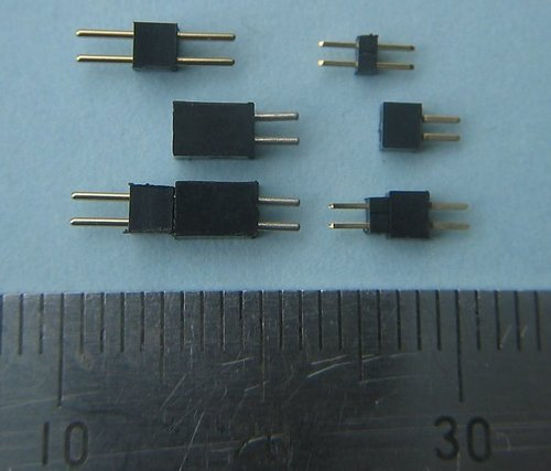 Micron Radio Control : 1 27mm Pin Space Connectors and Leads